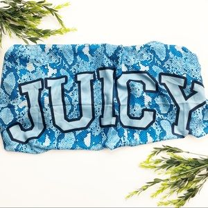NWT Juicy Couture blue python square scarf